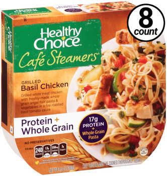 Conagra, Healthy Choice Cafe Steamers, Grilled Basil Chicken, 9.9 oz. Microwavable Entree (8 Count)