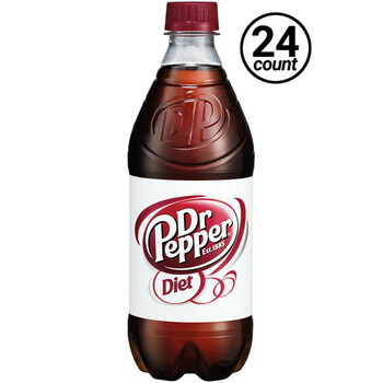 Diet Dr. Pepper, 20 oz. Bottles (24 Count Case)
