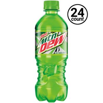 Diet Mountain Dew, 20 oz. Bottles ( 24 Count Case)