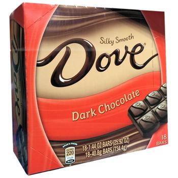 Dove, Silky Smooth Dark Chocolate, 1.44 oz. (18 Count)