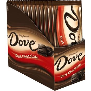 Dove, Silky Smooth Dark Chocolate, 3.3 oz. Bars (12 Count)
