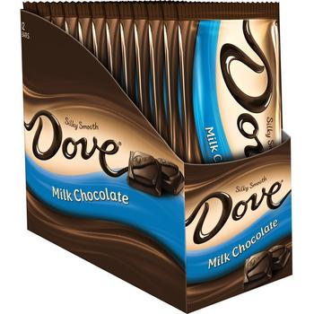 Dove, Silky Smooth Milk Chocolate, 3.3 oz. Bars (12 Count)