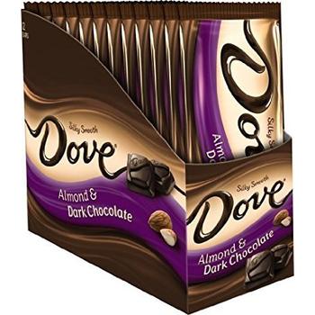 Dove, Silky Smooth Roasted Almond Dark Chocolate, 3.3 oz. Bars (12 Count)