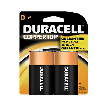 """Duracell, Coppertop, """"D"""" cell, two pack"""