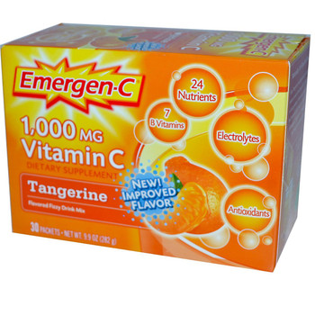 Emergen C, Tangerine, 1,000 mg Vitamin C, 0.3 oz. (30 Count)