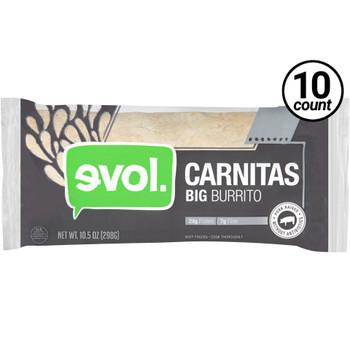 EVOL, Big Burrito Carnitas 10.5 oz. (10 Count)