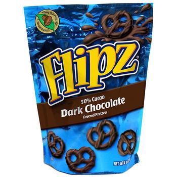 Flipz, Dark Chocolate Pretzel, 4.0 oz. Stand Up Pouch (1 Count)