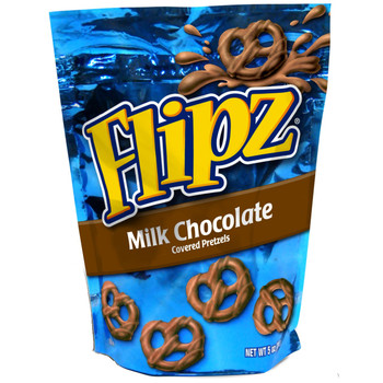 Flipz, Milk Chocolate Pretzel, 5.0 oz. Stand Up Pouch (1 Count)