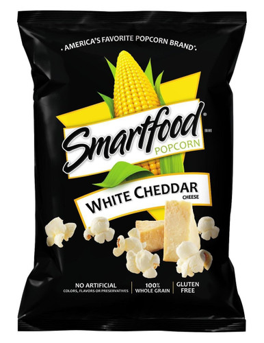 Smartfood, White Cheddar Popcorn, 1.0 oz. Bag (1 Count)