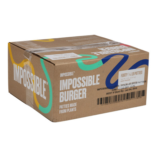 Impossible Burger Patties, .25 lb, (40 count)
