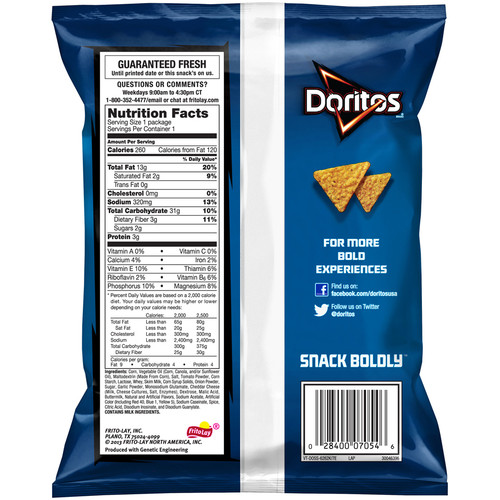 Doritos, Cool Ranch, 1.75 oz. Bag (1 Count)
