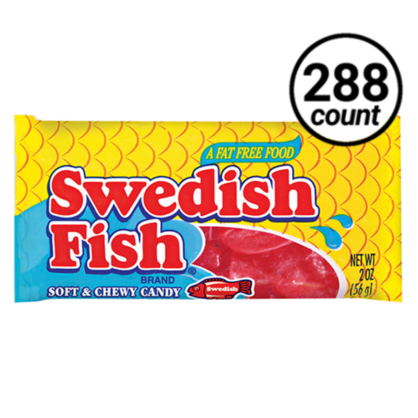 Swedish Fish, Soft and Chewy Candy, Red, 2.0 oz. bag (288 count)