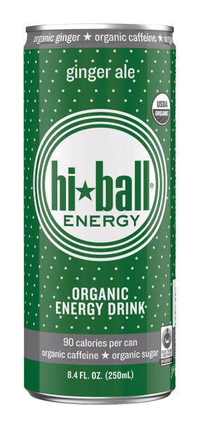 Hi Ball Organic Energy Drink, Ginger Ale, 8.4 oz (Pack of 24)