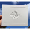 Custom Embossed Stationery Fold Notes with Single Panel Border