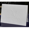 "Your Logo Embossed on ​4.5"" x 6.25"" Folded Notes"