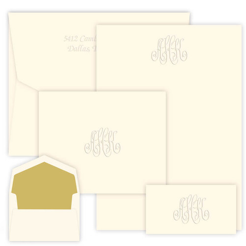 Embossed Monogram Stationery Wardrobe: 300 Piece Set - (EG1600)
