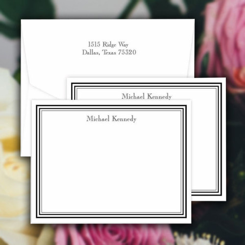 Colony Personalized Flat Cards - Raised Ink Stationery (EG8075)