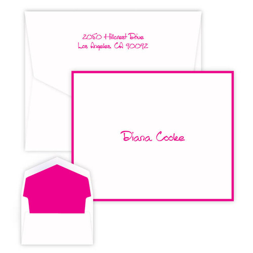 Personalized Thank You Fold Notes - Raised Ink Stationery - Customer Favorite (EG7090)