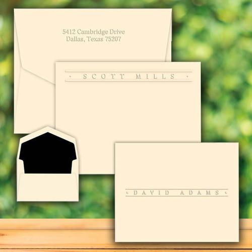 Four Seasons Premium Flat or Fold Notes - Embossed Stationery (EG9017)