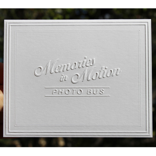 custom embossed stationery fold notes with modern frame border - Personalized Embossed Note Cards