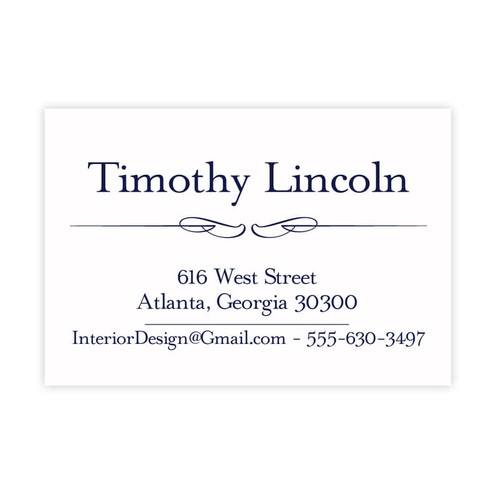virtue design personalized calling cards raised ink 100box eg7302 - Personalized Calling Cards