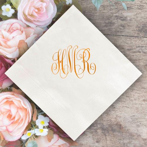 Personalized Monogram Napkins - Foil Pressed - 100/Box (EG2672)