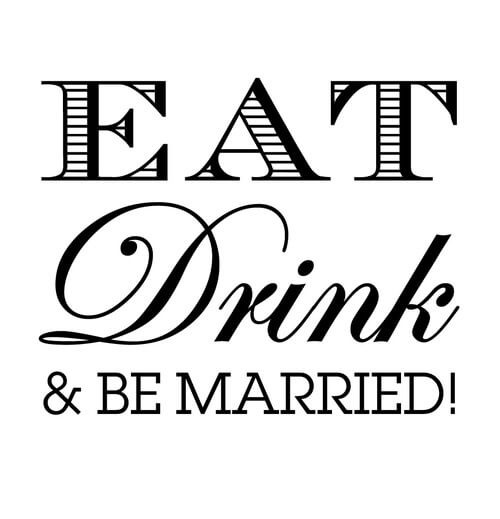 Eat Drink Amp Be Married Stamp Clip Td3013