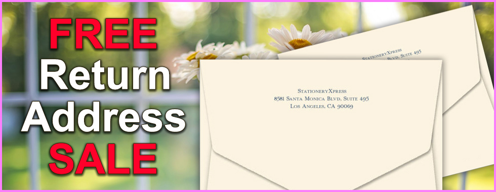 Free Return Address Sale at StationeryXpress.com
