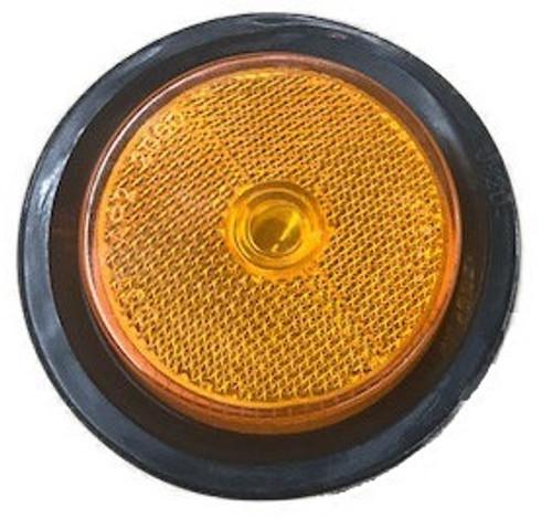 """2 1/2"""" Round Amber Side Marker Light w/Grommet"""