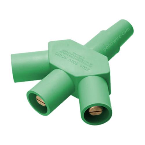 CAM LOCK 400A 3-FER 1F-3M GREEN 2-2/0 & 2/0-4/0