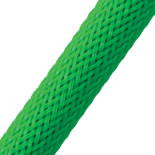 """BRAIDED SLEEVE 1/2"""" 24' NEONGN EXPANDS 1/4""""-3/4"""""""