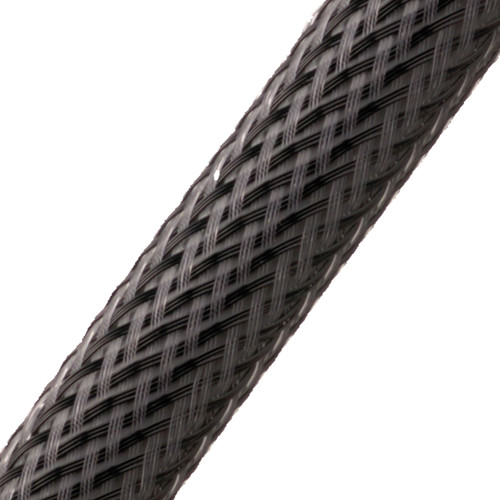 """BRAIDED SLEEVE 1/8"""" 50' CARBON EXPANDS 1/8""""-1/4"""""""