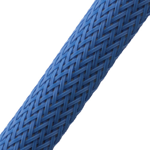 """BRAIDED SLEEVE 3/4"""" 15' NEONBLUE EXPANDS 5/8""""-1"""""""