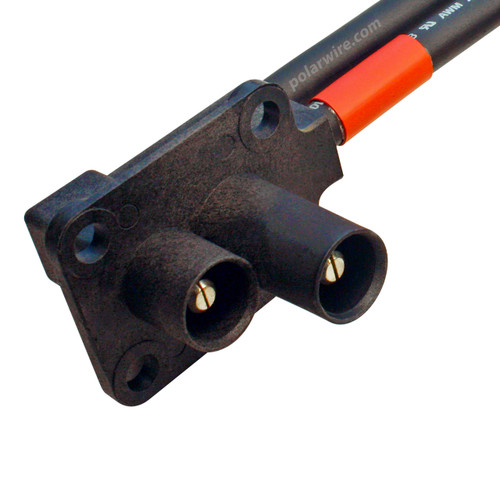 Polar Wire makes the best jumper cables available anywhere! 1 foot 2/0 gauge J-1238 Caterpillar Jump Start receptacle lead
