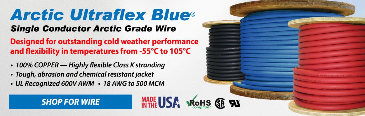 ARCTIC ULTRAFLEX BLUE Single Conductor Wire
