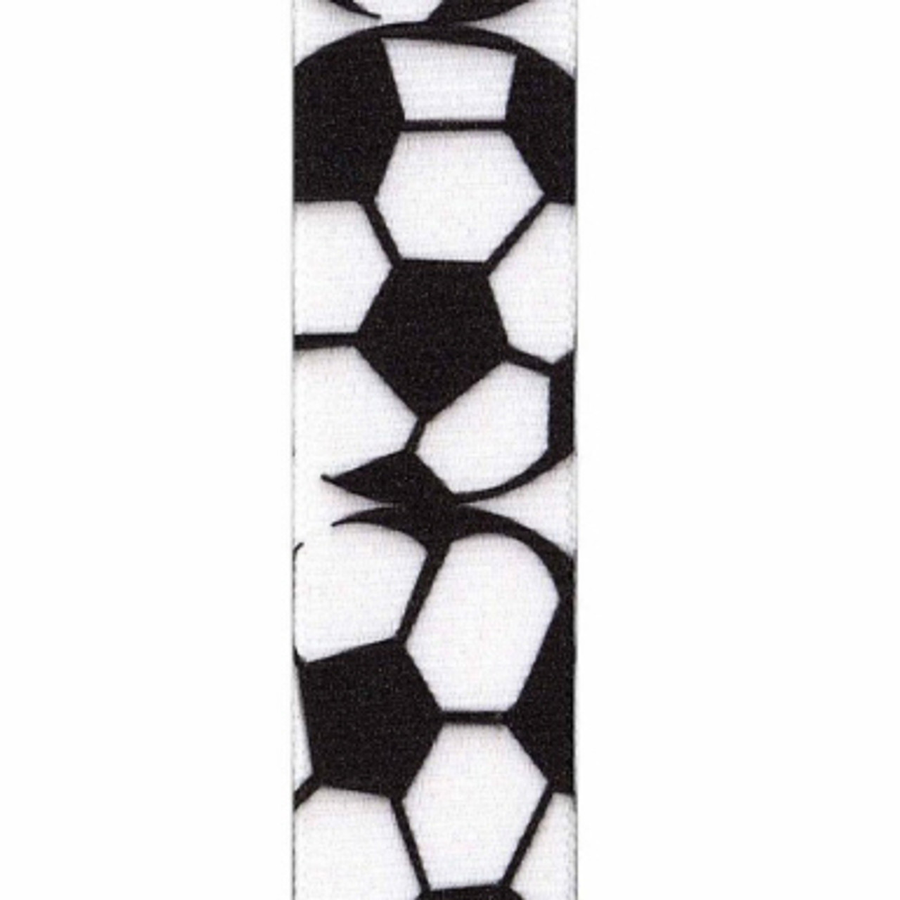 Soccer Grosgrain Sports Ribbon