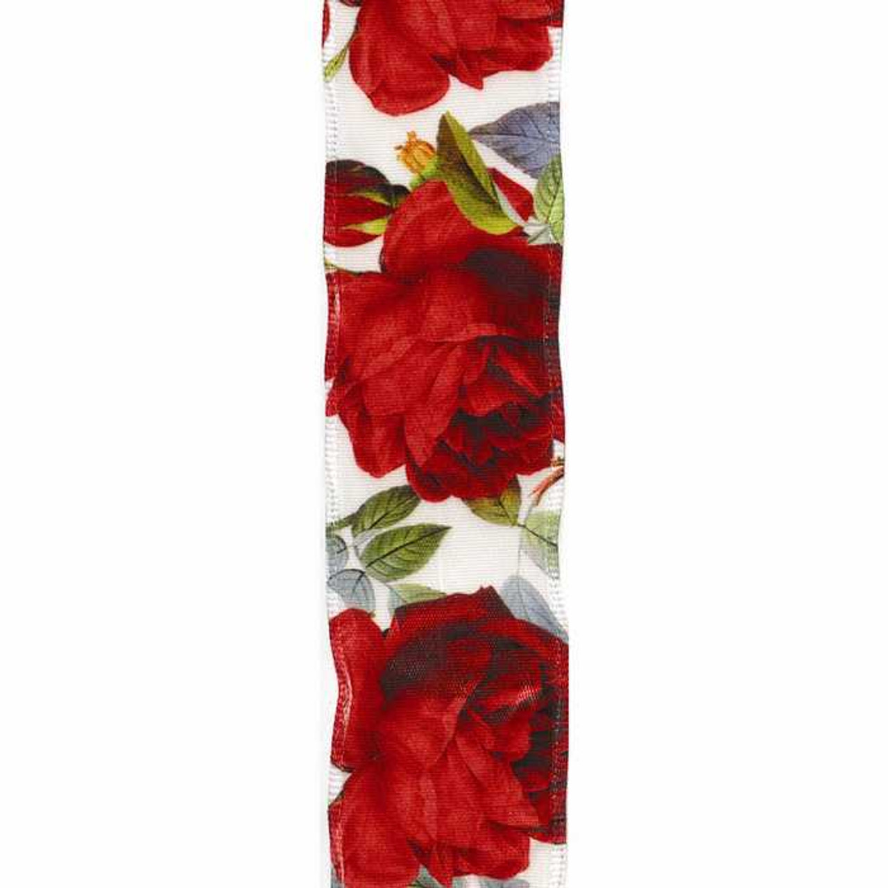 Rose Bloom Wired Edge Ribbon