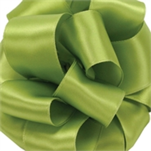Spring Green Wired Satin Ribbon