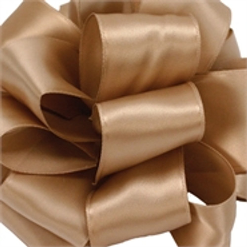 Champagne Wired Satin Ribbon