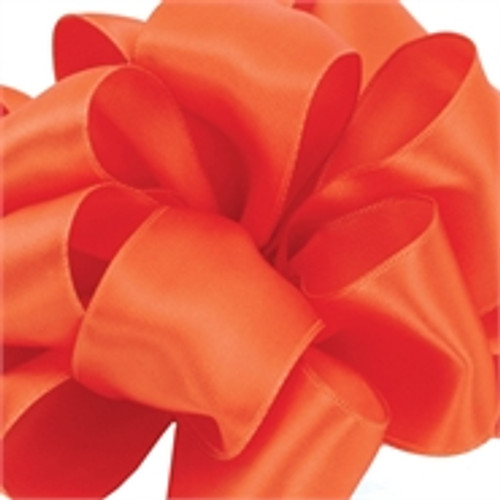 Geranium Wired Satin Ribbon