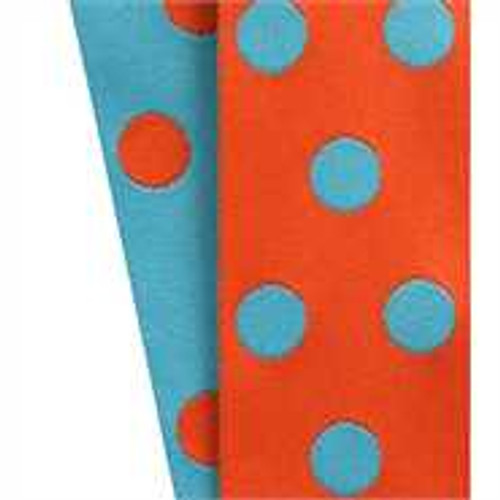Cirq Orange/Turquoise Reverse Dots