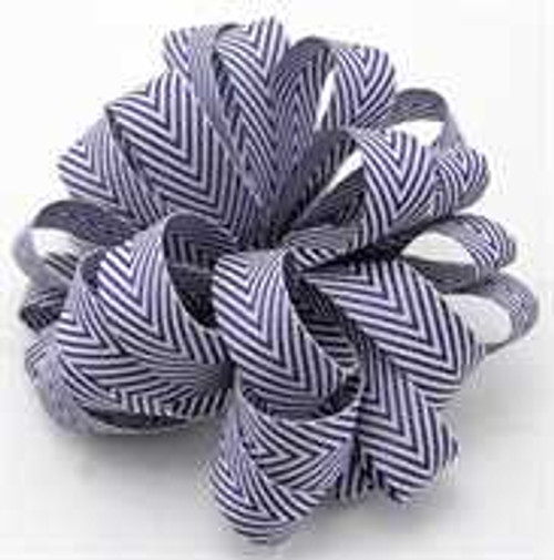 Kessie Twill Chevron Ribbon Navy