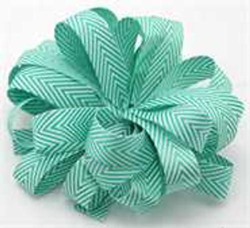 Kessie Twill Chevron Ribbon Green