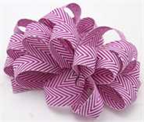 Kessie Twill Chevron Ribbon Purple