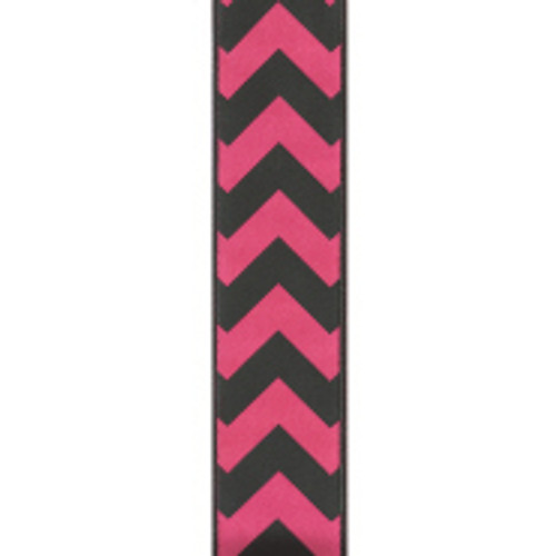 Bold-Wired Edge Shocking Pink / Black Chevron