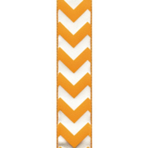 Wired Edge Orange Chevron Ribbon