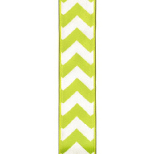 Wired Edge Yellow Chevron Ribbon