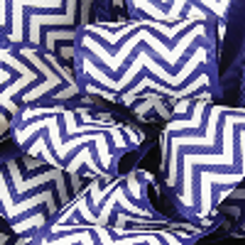 Light Navy Grosgrain Chevron Ribbon