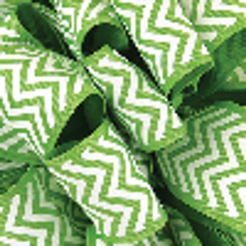 Apple Green Grosgrain Chevron Ribbon