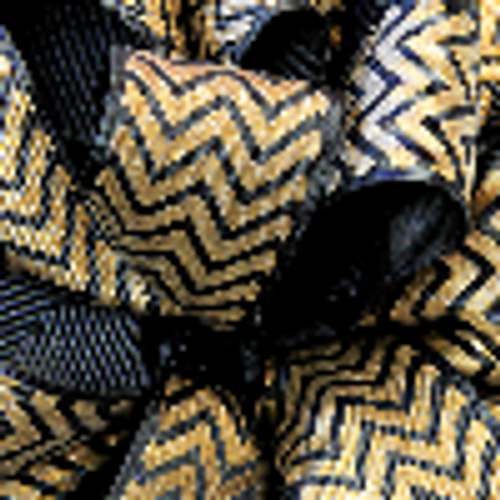 Gold Grosgrain Chevron Ribbon